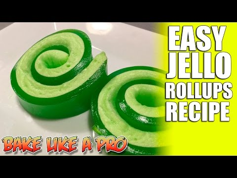 Video Easy JELLO Roll Ups Recipe - Super FAST !
