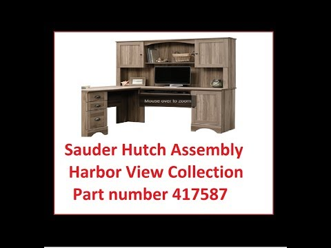 Hutch install Sauder Hutch Harbor View Collection 417587