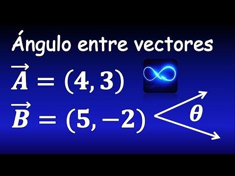 Cómo calcular el ángulo entre dos vectores, muy fácil | Cálculo vectorial