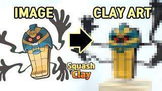 Pokémon Clay Art: Cofagrigus Ghost-type Pokémon!!