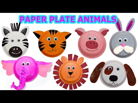How to create Cute Animals using Paper Plates - Craft Videos for Kids - Jugnu Kids