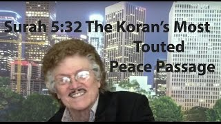 Surah 5:32 The Koran's Most Touted Peace Passage
