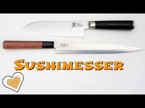 Das beste Sushi Messer - Qualität, Kaufempfehlung, Pflege und Schleifen