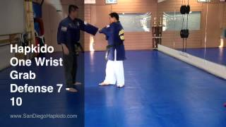 Hapkido One Wrist Grab Defense 7-10