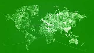 green screen world map for presentation | world map green screen | animated world map background Hd