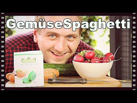 🔴 Gemüsespaghetti selber herstellen / machen mit dem Gemüse Spaghetti Hobel