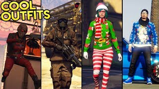 GTA Online 15+ AWESOME OUTFITS! (Christmas Outfits, Ant Man, The Chernobyl & More)