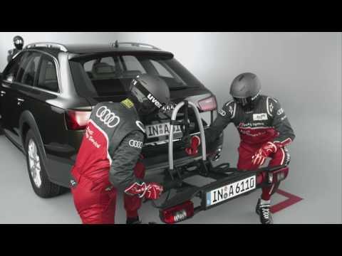 Audi Original Fahrradheckträger für die Anhängerkupplung richtig montieren - Tutorial