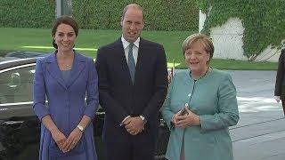 Angela Merkel welcomes Kate and William to Berlin
