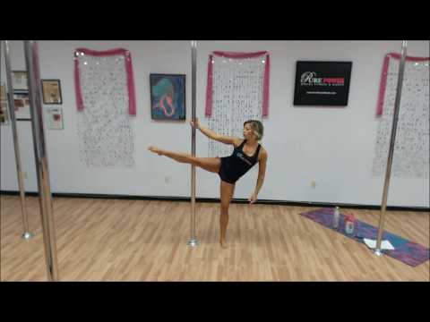 Pole Fitness Workout: Full 1-hour Mixed-Level Class, Routine 1