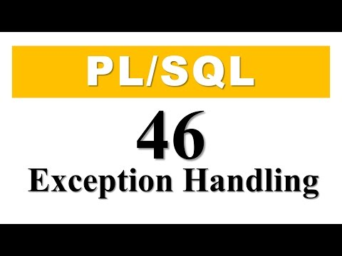 PL/SQL tutorial 46: Introduction to PL/SQL exception Handling in Oracle Database By Manish Sharma