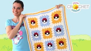Pokemon Granny Square Blanket Crochet Pattern & Tutorial