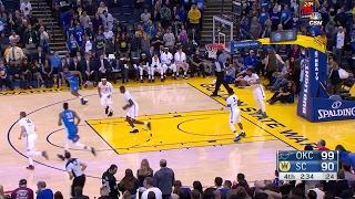 Highlights: Dakari Johnson (21 points)  vs. the Warriors, 2/12/2017