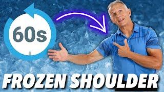 60 Second Frozen Shoulder Exercises & Stretches-Adhesive Capsulitis