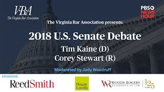 WATCH LIVE: Tim Kaine and Corey Stewart meet for first U.S. Senate debate in Virginia