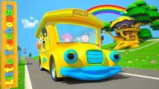 Wheels On The Bus | Nursery Rhymes Songs For Children | Kindergarten Cartoons By Little Treehouse