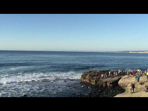 Electric Skateboard riding in La Jolla, California on Black Friday