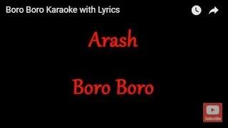 Boro Boro  Arash  Karaoke with Lyrics