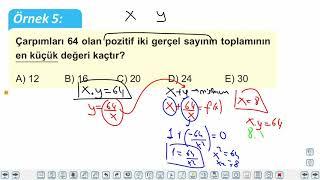 Eğitim Vadisi AYT Matematik 20.Föy Maksimum Minimum Problemleri 1 Konu Anlatım Videoları