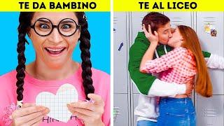 TE AL LICEO VS TE DA BAMBINO || Diversi tipi di Persone e Situazioni in cui puoi immedesimarti!