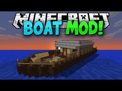 Minecraft Mods || MORE BOATS!!! || Pirate Ships!!! || Mod Showcase [1.7.10]