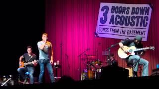 """3 Doors Down Acoustic """"Let Me Go"""" (Live) 2/9/14"""
