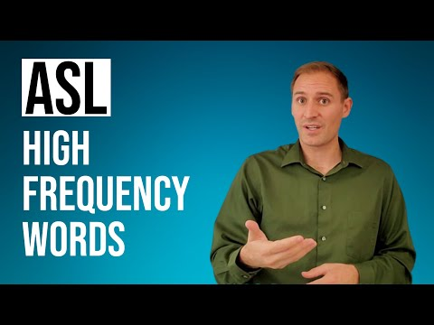 LEARN ASL FAST with high frequency words | 24 common signs for everyday conversation | Level 1