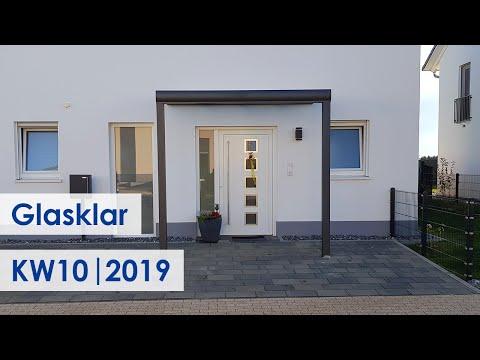 Haustür-Vordächer aus Alu mit VSG (Kundenbilder KW 10/2019)
