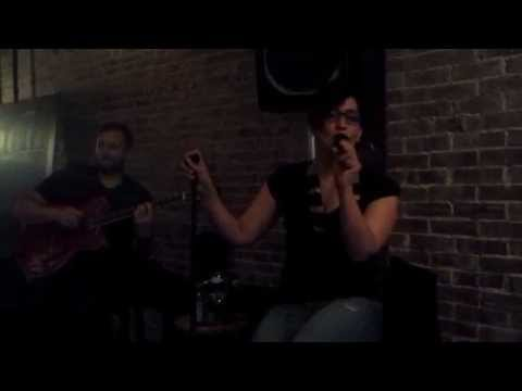 "Singing Amy Winehous' version of ""Valerie"" at Robust with my duo friend Pete Lombardo"