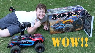 We got a Traxxas Maxx! Let's unbox this beast and ride...