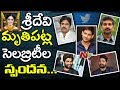 MaheshBabu, PawanKalyan, AlluArjun, JrNTR & Other Celebrities Response | Sridevi Passed Away