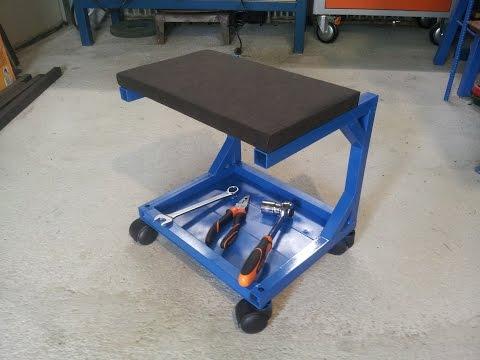 sgabello da officina fai da te (homemade workshop stool)