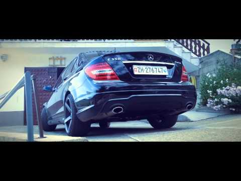 """Teaser 2013 Mercedes Benz C350 4matic on 19"""" Vossen VVS-CV3 wheels/rims"""