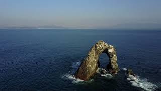 福岡県相島で空撮