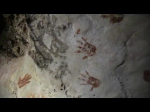 Ancient Maya cave reveals mysterious hand prints