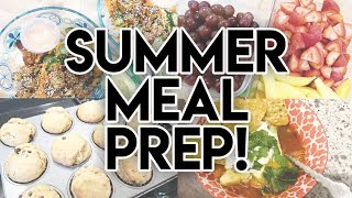 SUMMER MEAL PREP! ☀ CHIPOTLE CHICKEN CHILI 🥣 PEANUT BUTTER BANANA MUFFINS 🍌 CHICKEN SALAD 🥪