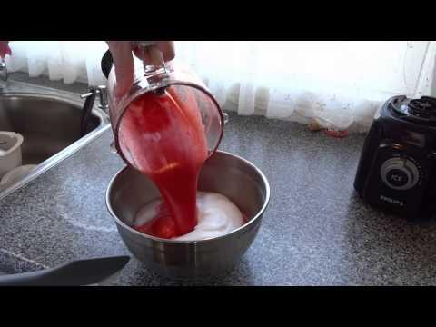 Hjemmelavet Jordbær Sorbet is