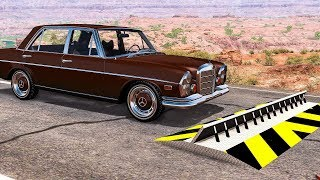 SPIKE STRIP HIGH SPEED CRASHES #32 - BeamNG Drive Crashes