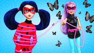 LadyBug Mancha El Vestido De Barbie. Vídeos De Barbie En Español. Vídeos Para Niñas