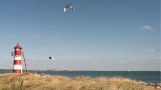 Kiteboarding in Denmark by RACE DRONE