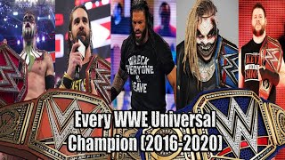 Every WWE Universal champion (2016-2020) UPDATED
