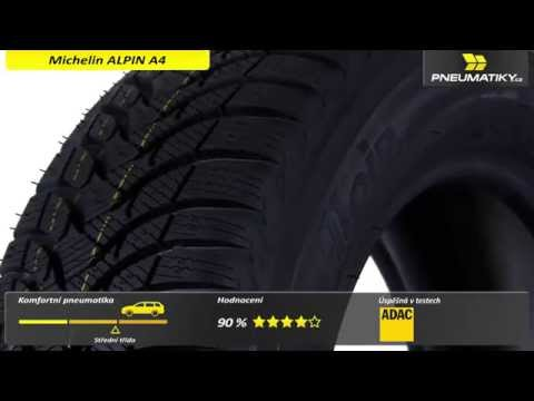 Youtube Michelin ALPIN A4 185/55 R15 82 T GreenX Zimní