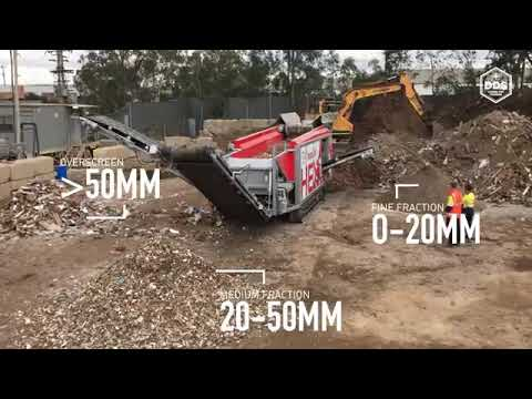 Ecostar Hextra Mobile Disk Screener Processing construction and demolition waste YouTube 36