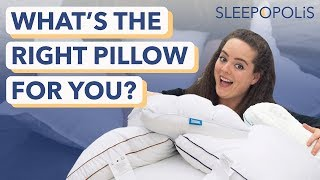 What's The Right Pillow For You? Here's How To Choose.