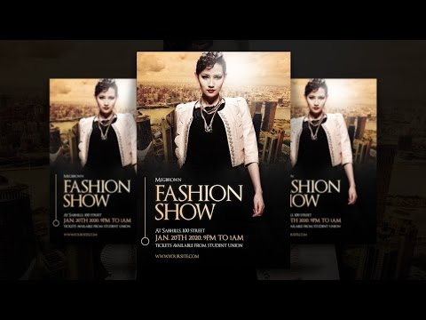 Fashion Show Flyer Design In PhotoShop CC Tutorial Mp3