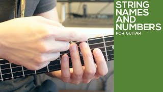 Guitar String Names and Numbers   Identifying Guitar Strings   Video Lesson