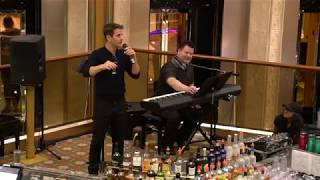 """""""You Just Want Us Drunk & Naked"""" Toast - Joey McIntyre (HD) - NKOTB Cruise 2017 - Atrium Concert"""