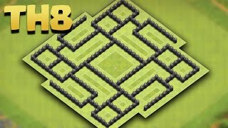 Town Hall 8 (TH8) UPDATE Farming Base [Pingfao Style 2016] + Replays