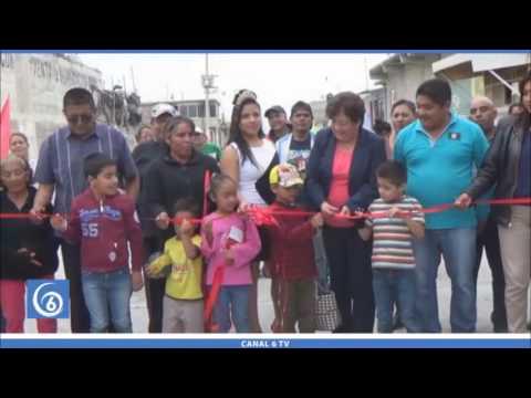 Inauguración de pavimentación de 11 calles en el barrio Fundidores en Chimalhuacán