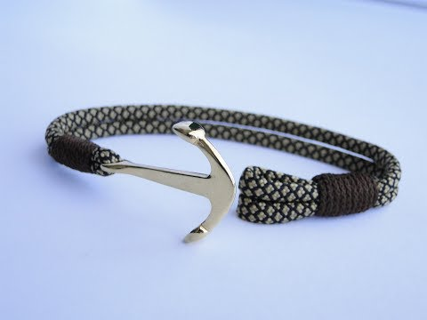 """How to Make an """"Anchor Charm"""" Nautical Paracord Bracelet-CbyS Paracord and More"""